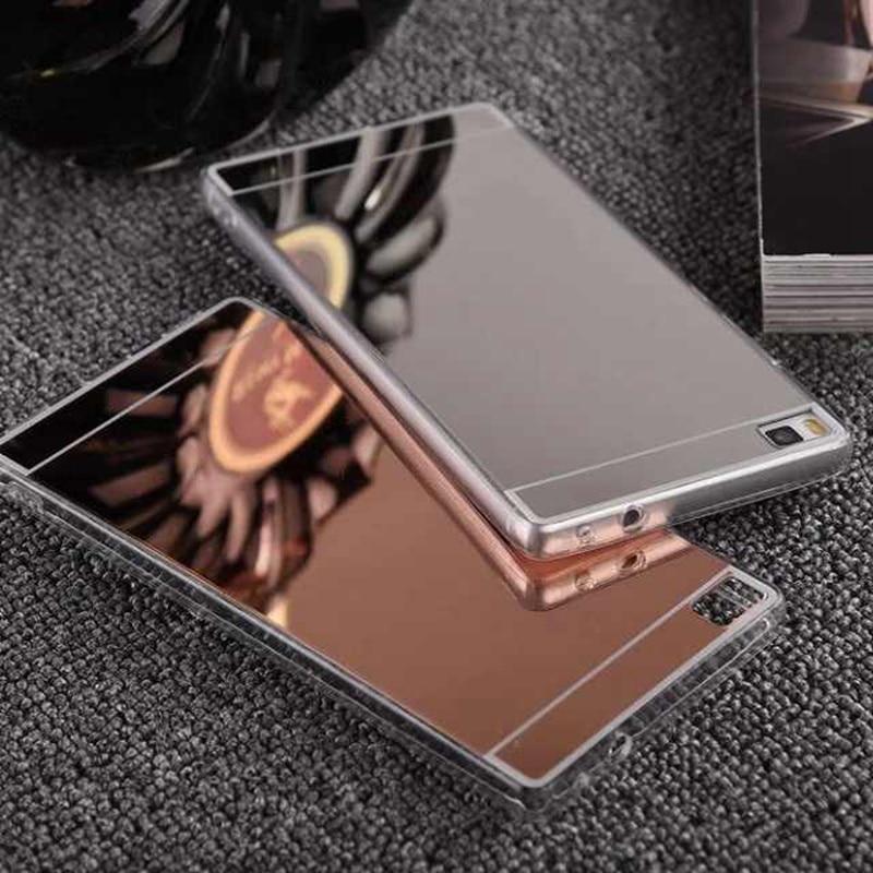 Для Huawei P8 lite случае p8lite Капа ультра тонкий позолоченный Зеркало Силиконовые задняя крышка телефона для Fundas Huawei P8 Lite 2015 случае nf308