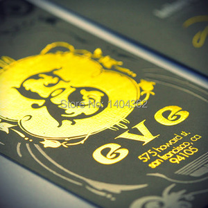 Image 2 - beautiful  business cards Custom gold stamp business card printing gold foil Business Card Printing gold stamping visit cards