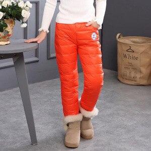Image 5 - Зимние теплые детские брюки, водонепроницаемые брюки, леггинсы на утином пуху для девочек, детская одежда, плотные брюки для девочек, леггинсы для детей