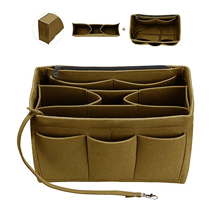 Felt Bag Makeup Organizer/Felt Cloth Insert Bag For Handbag Fit Speedy Neverfull Multifunctional Travel Cosmetic Bags