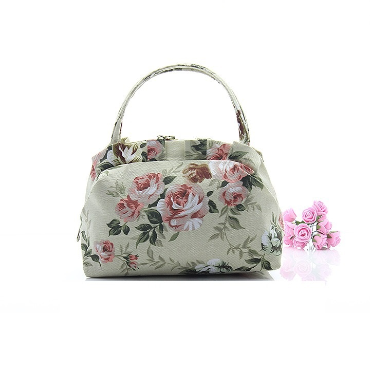 2017 Fashion Women Bag Vintage Flower Printed Canvas Handbags High Quality Small Cloth Packet Sweet Hand In Top Handle Bags From Luggage On