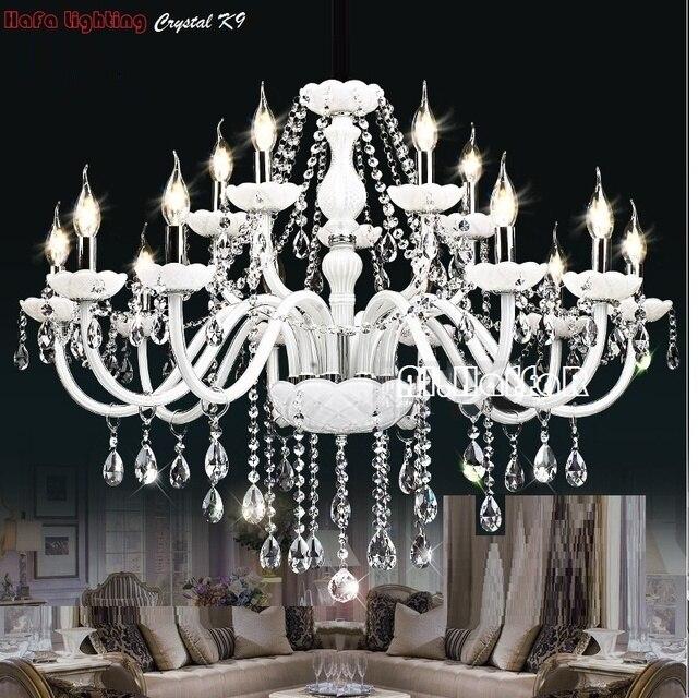Modernen Weißen Kristall Kronleuchter Lichter Lampe Kronleuchter Für  Schlafzimmer Wohnzimmer Leuchte Kristall Licht Lüster De Crista