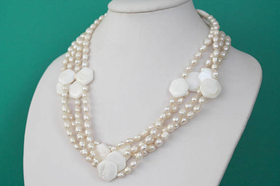New Arriver 80inches Long Genuine White Rice Freshwater Pearls Coin Mop Rope Necklace,Handmade Woman JewelryNew Arriver 80inches Long Genuine White Rice Freshwater Pearls Coin Mop Rope Necklace,Handmade Woman Jewelry