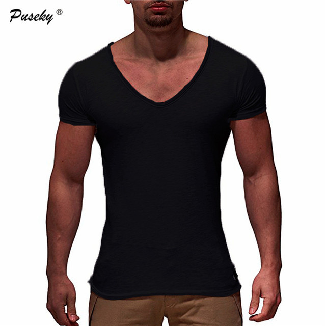df0189bf8331 New Fashion Summer Solid color T-shirt Brand Clothing Hip Hop Round neck Men  T