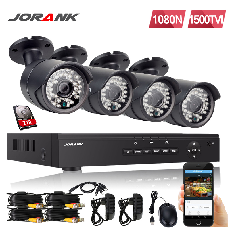 8CH 1080N 5IN1 DVR 4 720P Outdoor CCTV IR Night Vision Camera Security System US