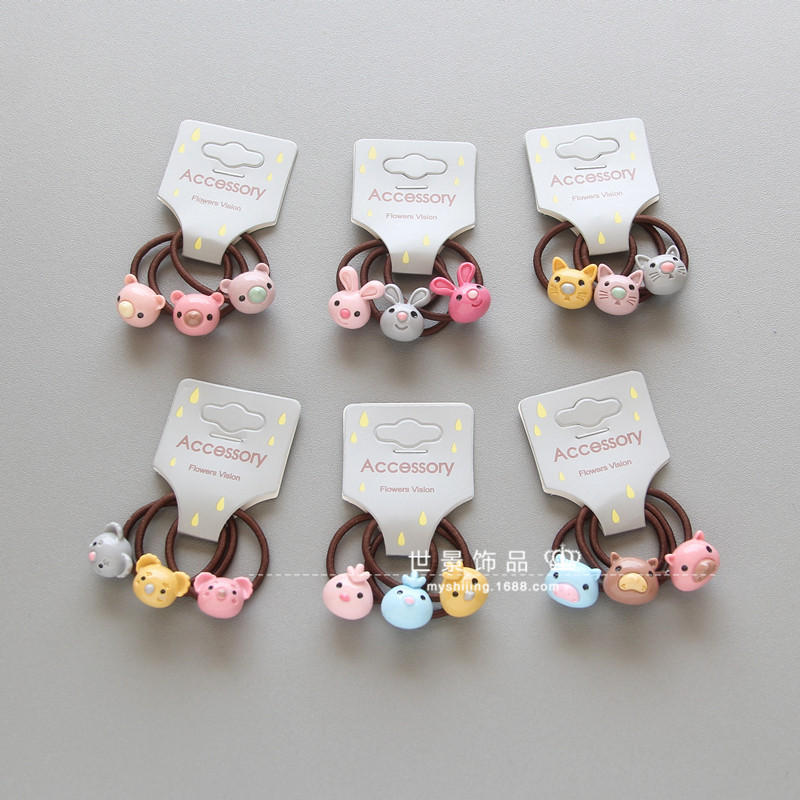 Korean Hair Accessories For Girls Handmade Hair Tie Head Band Acrylic Dimensional Dolls  ...