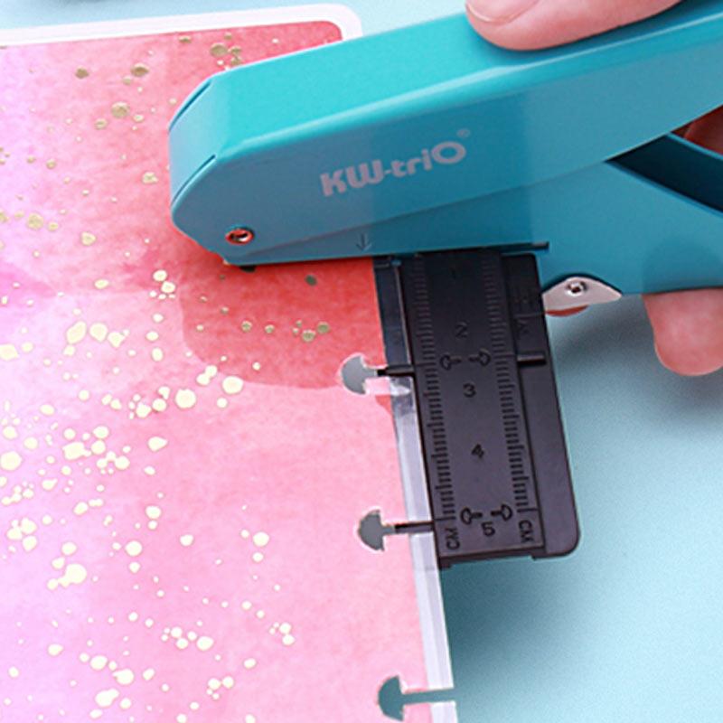 Perforadora creativa con forma de seta para planificador feliz, anillo de disco, cortador de papel DIY, perforador tipo T, máquina artesanal, material de oficina
