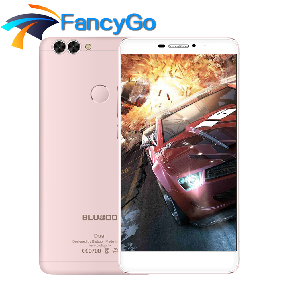 Original BLUBOO Dual Mobile Phone 5.5 inch 4G Android 6.0 MTK67637T Quad Core 2GB RAM 16GB ROM Smartphone 13.0MP Dual Camera