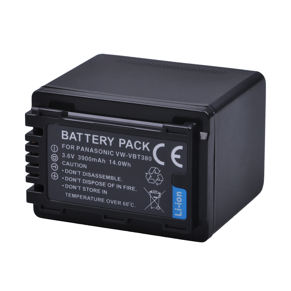 Tectra VW-VBT380 VW VBT380 1PC 3.6V/3900mAH Li-ion Camera Battery for Panasonic HC-V180GK HC-V380GK HC-V380 HC-W580GK HC-W580MGK hc 1512