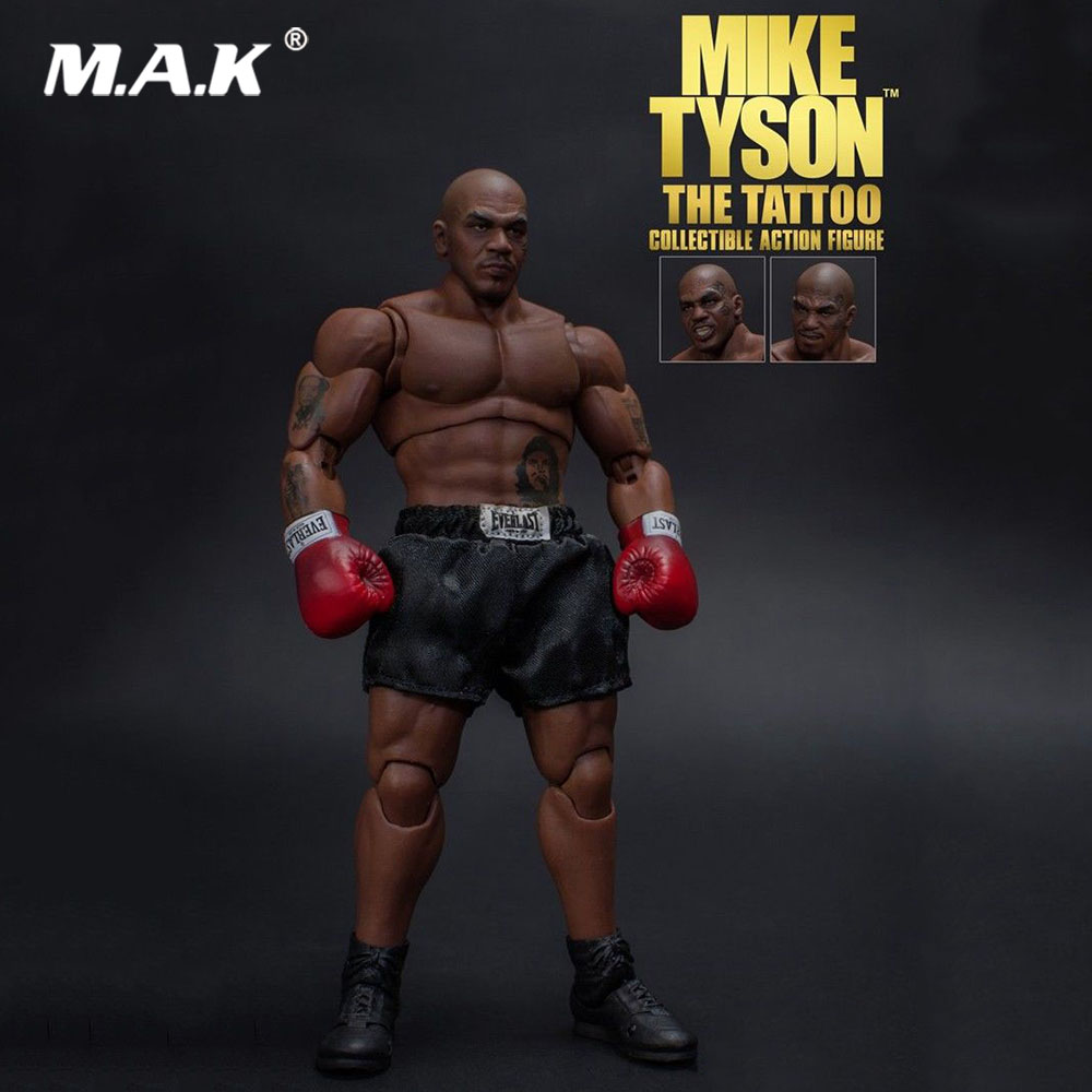 >Collectible 1/12 Scale Full Set <font><b>World</b></font> Heavyweight <font><b>Champion</b></font> MIKE TYSON Tattoo Version with Three Heads Figure Model for Fans <font><b>Gift</b></font>