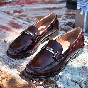 Image 2 - Мокасины BeauToday, женские брендовые туфли на плоской подошве, с круглым носком, без застежек, из лакированной коровьей кожи, ручная работа, 27040