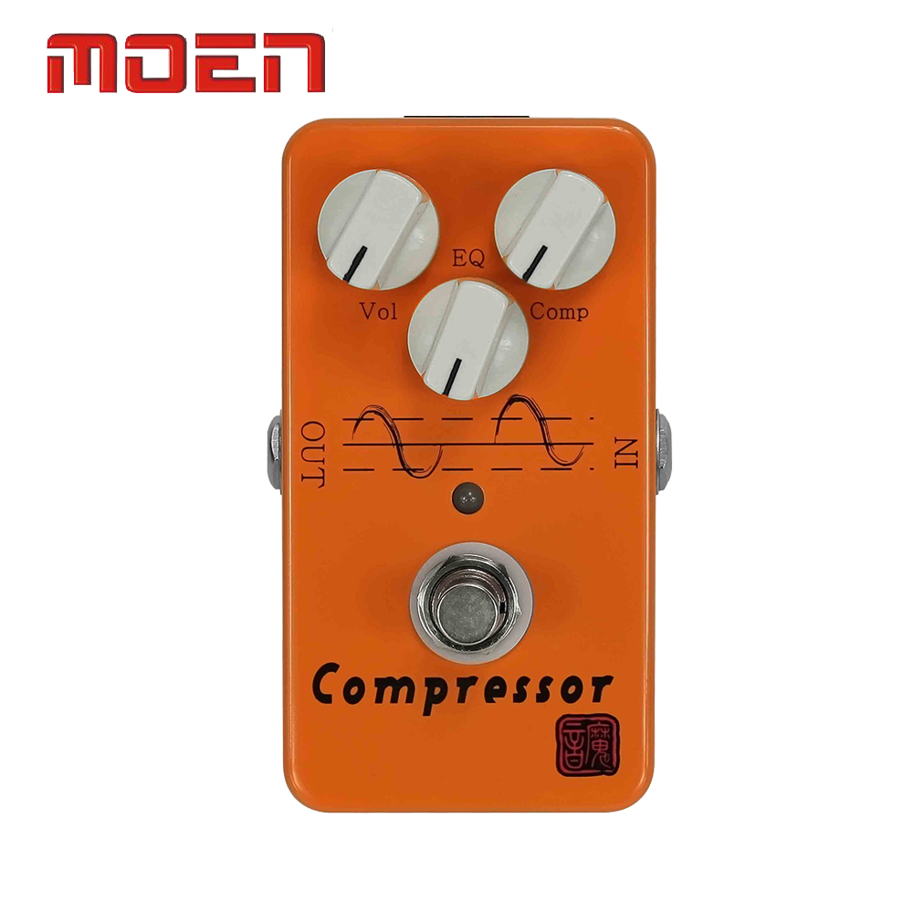 Moen AM-CP Pedal True Bypass Design Compressor Vol EQ Comp Knob Electric Guitar Effect Pedal italy baroni lab dave s comp compressor guitar effect pedal stompbox true bypass