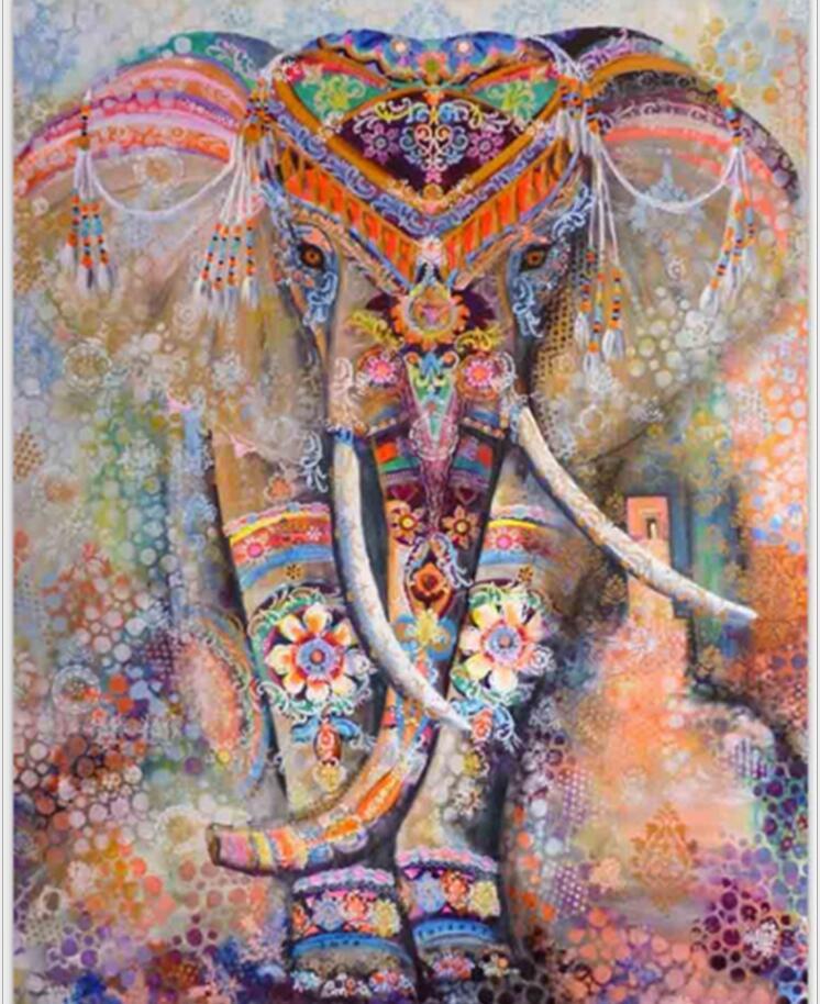 Éléphant indien Tapisserie D'aubusson de Couleur Imprimé Décor Mandala Religieux Boho Mur Tapis Bohême Plage Couverture Plus La Taille