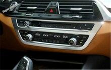 Lapetus Pearl Chrome Aria Condizionata AC Pannello di Controllo Della Copertura Trim Misura Per BMW Serie 5 Berlina G30 530I 2017 2018 2019 ABS