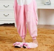 Wholesale Animal Onesies Unisex Adult Winter Pink Pig Onesie Anime Costume Flannel Pajamas Sets Sleepwear