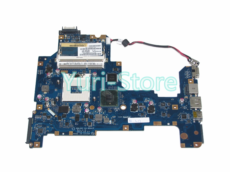 NOKOTION NALAA LA-6041P For Toshiba Satellite L670 L675 Laptop Motherboard DDR3 HM55 GMA HD K000103760 nokotion for toshiba satellite c850d c855d laptop motherboard hd 7520g ddr3 mainboard 1310a2492002 sps v000275280