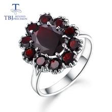 TBJ,925 فضة الاحجار الكريمة الطبيعية العقيق الأسود خواتم مجوهرات راقية للمرأة والفتاة الذكرى وأعياد ميلاد هدية لطيفة
