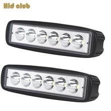 HID CLUB 18W LED Work Light Bar Atuo LED Lamp For Driving Fog Lighting  Car Offroad ATV SUV 4WD Car Boat Truck  12V 24V 6500K