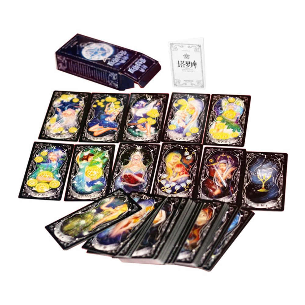 2 スタイルタロットカードバージョンボードゲームカードパーティー家族友人エンターテイメント神話運命占いテーブルゲーム