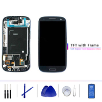 Original and 4.8'' TFT LCD Display LCD With Touch Screen Digitizer Assembly With Frame For Samsung Galaxy S3 i9300 i9300i i9308i