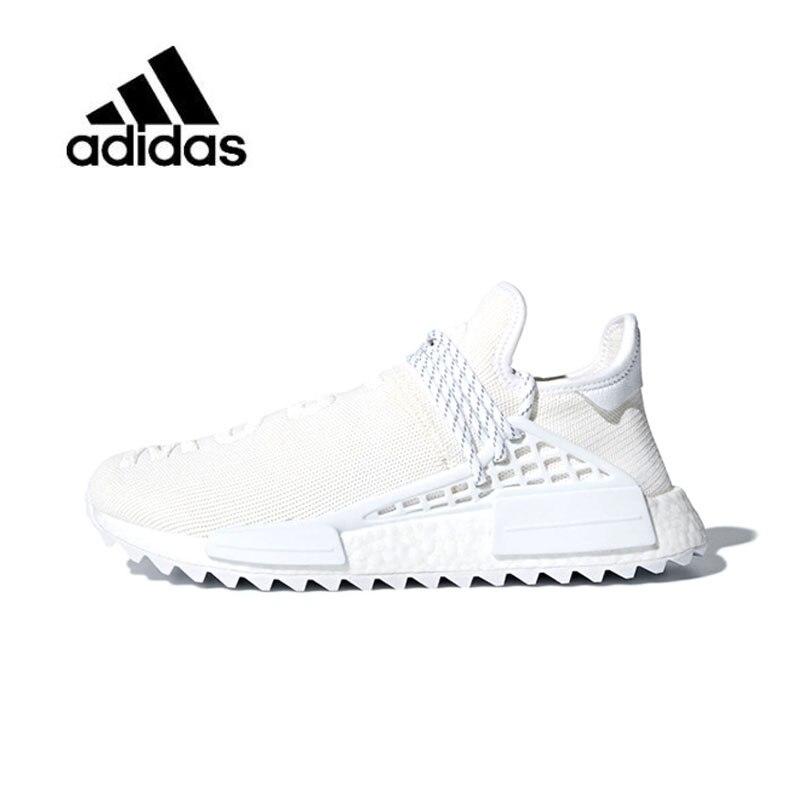 Original nueva llegada oficial Adidas raza humana rastro x Pharrell, de hombres y mujeres corriendo Zapatos Zapatillas de deporte de buena calidad AC7031