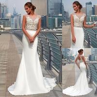 Чудесное Тюлевое и ацетатное сатиновое платье в горошек с глубоким вырезом, прозрачное свадебное платье русалки с 3D цветами, свадебные плат