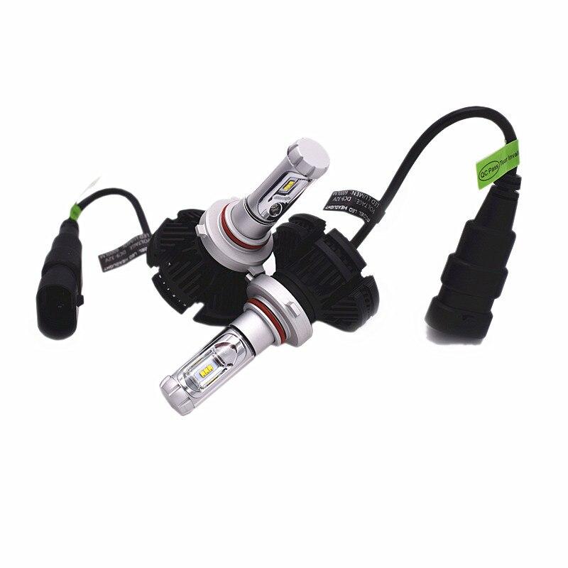 X3 50 W 6000lm voiture lampe de poche H4 H7 H11 H13 9006 Kit 3000/6000/8000 K CSP LED phares antibrouillard 12 V sans ventilateur avant voiture ampoule