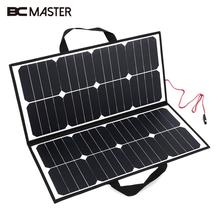 BCMaster Portable 50W 18V Solar Panel Camping Waterproof Folding Solar Power Panel Charger For Battery Covenience
