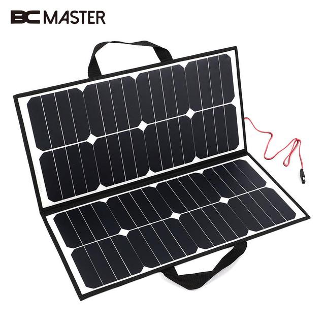 Bcmaster Portable 50w 18v Solar Panel Camping Waterproof