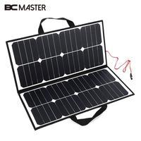 Bcmaster Портативный 50 Вт 18 В Панели солнечные кемпинг Водонепроницаемый складной солнечной Мощность Панель Зарядное устройство для Батарея
