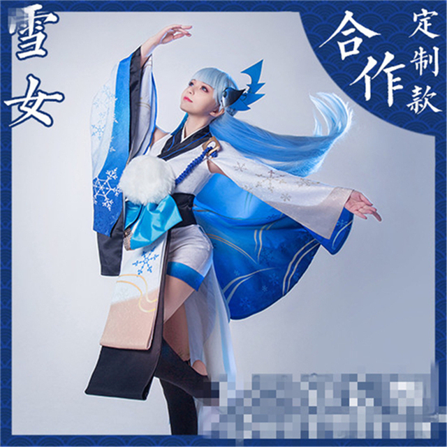 Hot 3d Game Onmyoji Sr Yuki Onna Cosplay Costume Woman Dress