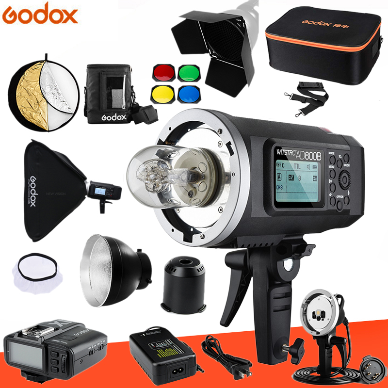 Godox AD600B TTL 600Ws HSS GN87 Outdoor Flash 8700mAh Battery Godox X1T Trigger Transmitter for Canon