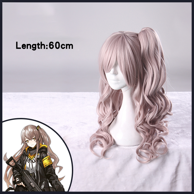 2017 New Game Girls Frontline Ump45 Cosplay Headwear Halloween Carnival Long Ponytail Cosplay Synthetic Hair