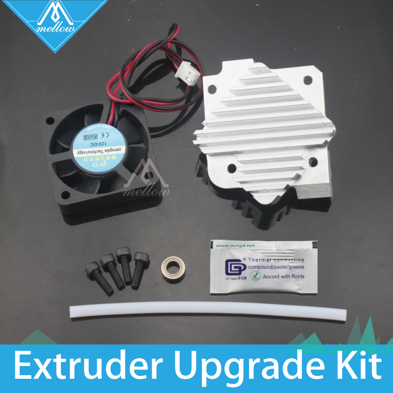 Free shipping 1 75 3mm aluminum Titan Aero extruder Upgrade 12V 24V fan Kit for