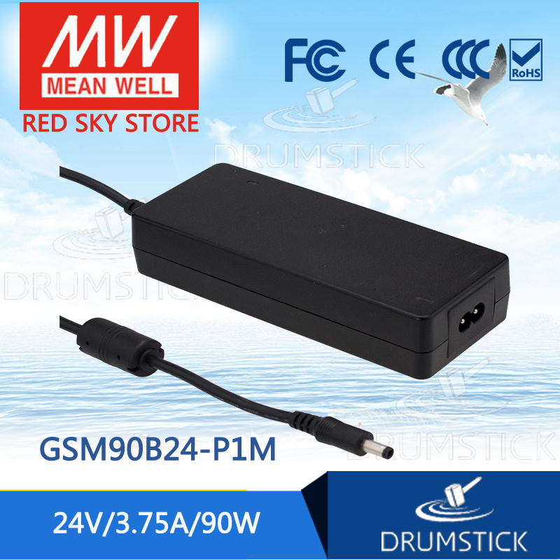 100% Original MEAN WELL GSM90B24-P1M 24V 3.75A meanwell GSM90B 24V 90W AC-DC High Reliability Medical Adaptor 1mean well original gsm160a24 r7b 24v 6 67a meanwell gsm160a 24v 160w ac dc high reliability medical adaptor