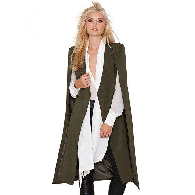 2016 Новая Мода Горячие Продажи Открыть Рукавом Плащ Женская Мода Тренчи Outwears Топы C215