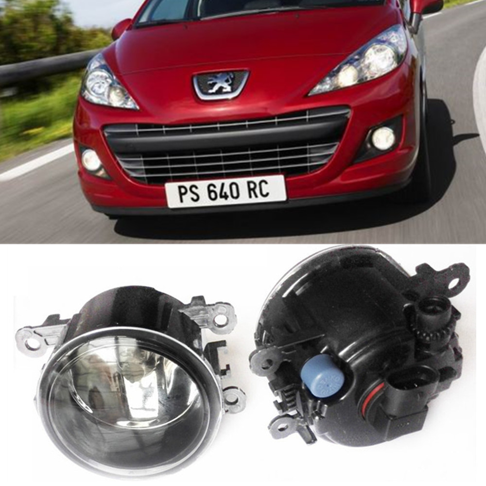 For Peugeot 207 WA_, WC_ Hatchback  2006-2015 Car styling Fog Lamps halogen Fog lights 1SET for suzuki sx4 gy hatchback 2006 2012 car styling fog lamps halogen fog lights 1set
