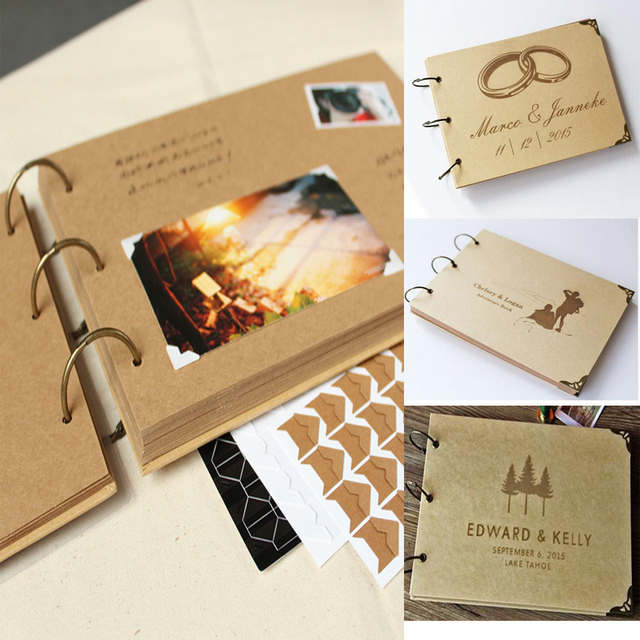 buy a4 ring binder photo album kraft scrapbook wedding album scrapbook wedding. Black Bedroom Furniture Sets. Home Design Ideas