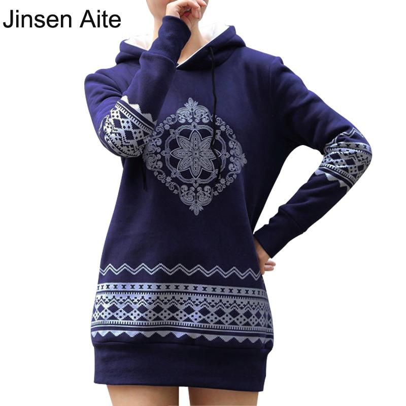 Jinsen Aite Plus Size S-XXXXL Fleece Mujeres Jerseys Sudaderas Con - Ropa de mujer
