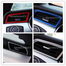 2pcs Side Air Vent Frame Cover Trim For Ford Mustang 2015 2016 2017