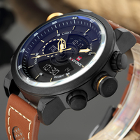 NAVIFORCE Men Brand Watch Sport Army Military Male Clock Fashion Wristwatch 12 24H Outdoor Watches Waterproof