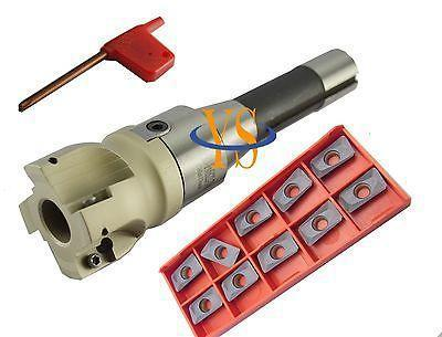 New M12 R8 FMB22 arbor +BAP400R 50-22-4T face mill cutter and 10pcs AMPT1604PDER inserts CNC mill free shiping1pcs aju c10 10 100 10pcs ccmt060204 dia 10mm insertable bore drilling end mill cutting tools arbor for ccmt060204