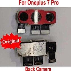100% oryginalny najlepiej działa z tyłu Big główna powrót moduł kamery Flex Cable dla Oneplus 7 Pro 1 + 7 Pro telefon wymiana