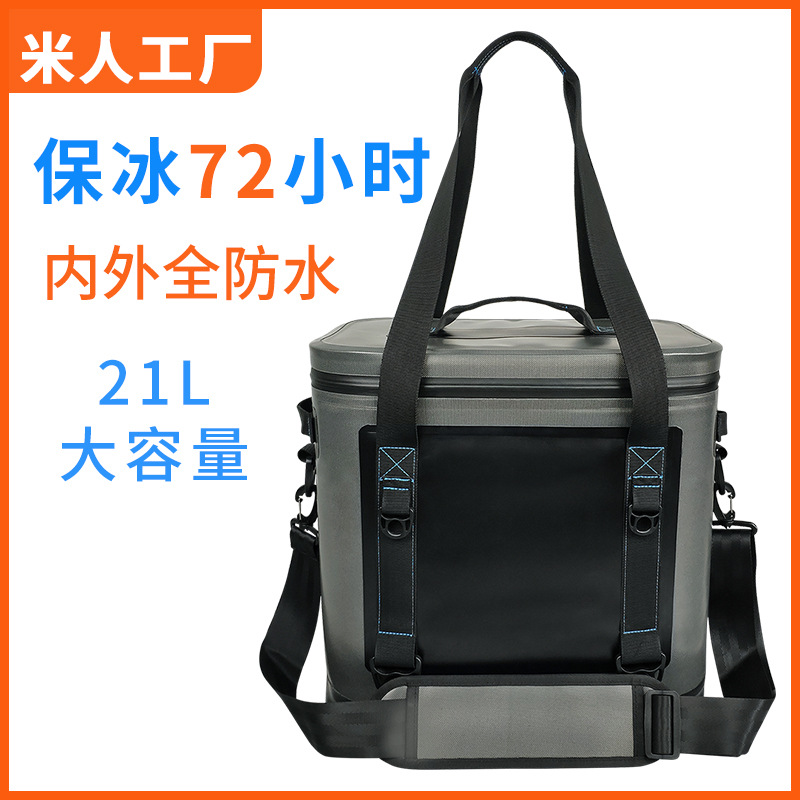 Medical 20l Rectanglar Cooler Bag Cool Insulated Shoulder Bag Picnic Lunch Box Ice Pack Thermal Shoulder Bag For Food Fruit Attractive And Durable