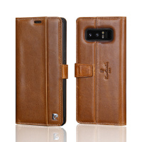 Pierre Cardin Genuine Leather Magnetic Book Flip Case For Samsung Galaxy Note 8 Luxury Wallet Case Cover Card Holder Phone Funda