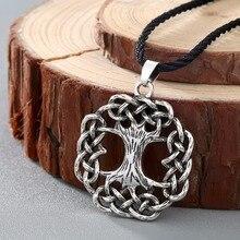 CHENGXUN Yggdrasil Tree of Life Ash Tree World Tree Infinite Knot Celtic Viking Scandinavian Jewelry Pendant Silver Bronze