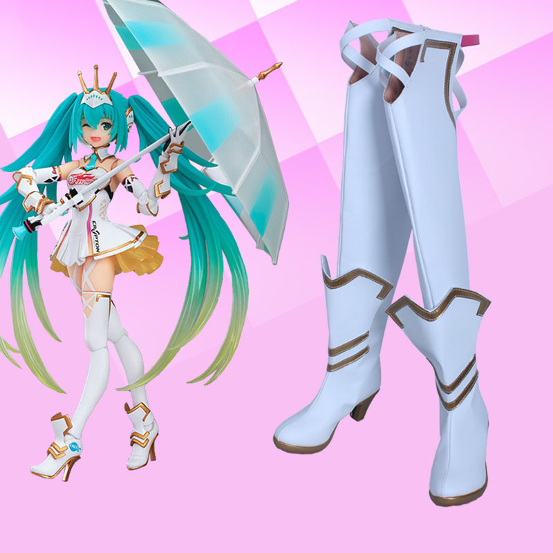 Anime Vocaloid Cosplay Hatsune Miku Cosplay saapad kingad 2015 Racing - Kostüümid - Foto 1