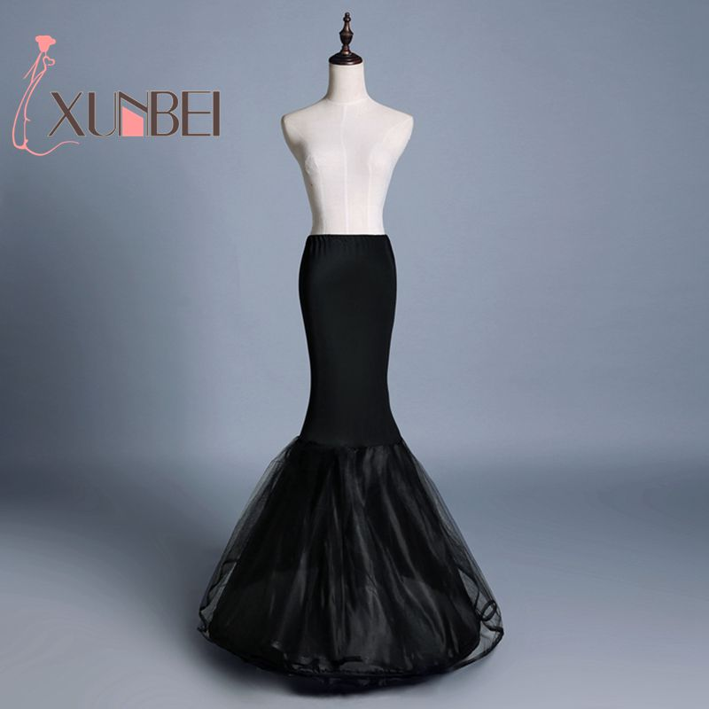 New Arrival Black Mermaid Petticoats 1 Hoops Petticoats For Mermaid Wedding Dress Crinoline Women Underskirt Wedding Accessories