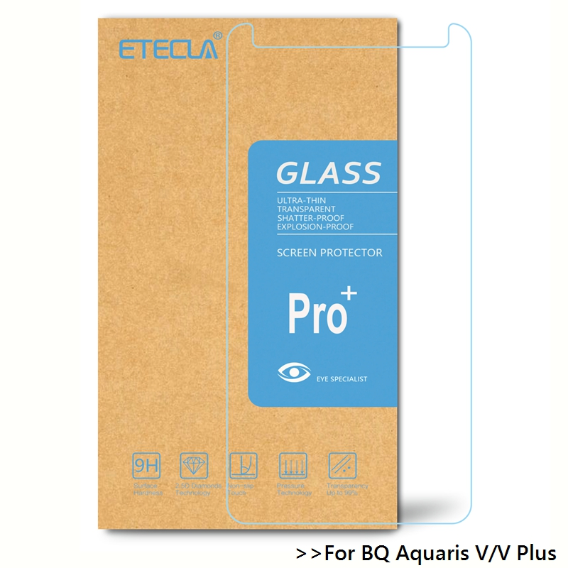 2PCS For BQ Aquaris V Tempered Glass On BQ Aquaris V Plus Glass BQ V / BQ V Plus Screen Protector 0.26mm 9h 9H Glass Film