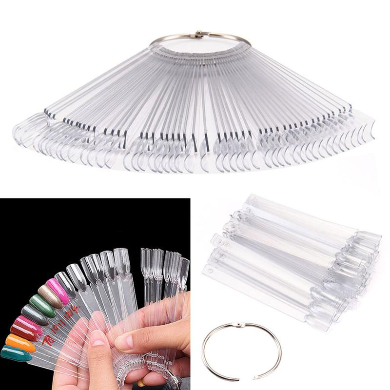 Nail Art Tips Colour Pop Sticks Display Fan Practice Starter Ring Clear DIY Polish UV Gel Decoration Practice Hoop Stick Clear недорго, оригинальная цена